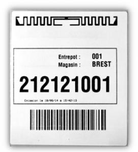 Antenne et puce RFID
